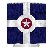 Flag Of Indianapolis Shower Curtain