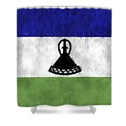 Flag Of Lesotho Shower Curtain