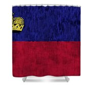 Flag Of Liechtenstein Shower Curtain