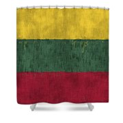 Flag Of Lithuania Shower Curtain