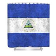 Flag Of Nicaragua Shower Curtain