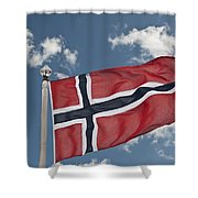 Flag Of Norway Shower Curtain