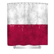 Flag Of Poland Shower Curtain