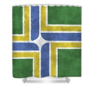 Flag Of Portland Shower Curtain