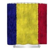 Flag Of Romania Shower Curtain