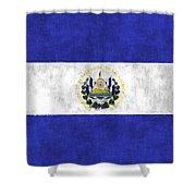 Flag Of Salvador Shower Curtain