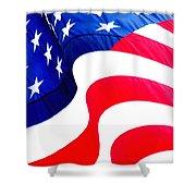 Flag Unfurl Shower Curtain