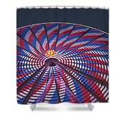 Flag Wheel Shower Curtain