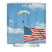 Flagdiver Shower Curtain