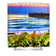 Flagler Beach Beautiful Shower Curtain