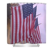 Flags At Cape May Nj Shower Curtain