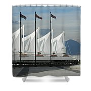 Flags At The Sails  Shower Curtain