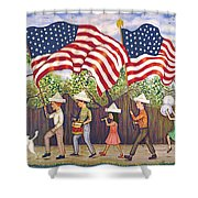 Flags Shower Curtain by Linda Mears