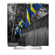 Flags Of Sweden Shower Curtain
