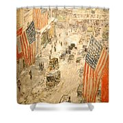 Flags On 57th Street Shower Curtain