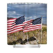Flags On Antelope Island Shower Curtain
