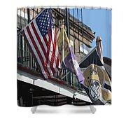 Flags On Bourbon Street Shower Curtain