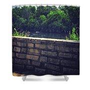 Flagstone Wall Shower Curtain
