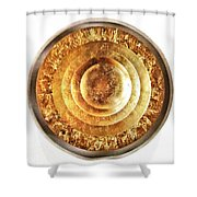 Flaking Gold Shower Curtain