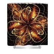 Flame Flower Shower Curtain
