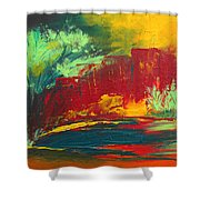 Flame In The Night Shower Curtain