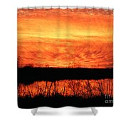Flamed Sunset Shower Curtain