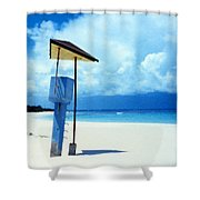 Flamenco Beach And Storm Shower Curtain