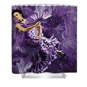 Flamenco Dancer 023 Shower Curtain