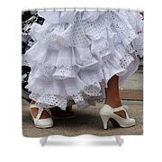 Flamenco Dancer In White Shower Curtain