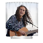 Flamenco Guitarist Shower Curtain