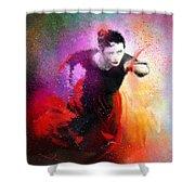 Flamencoscape 03 Shower Curtain