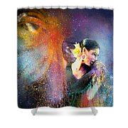 Flamencoscape 04 Shower Curtain