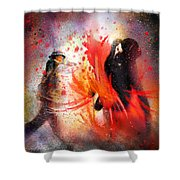 Flamencoscape 07 Shower Curtain