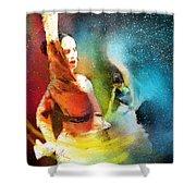 Flamencoscape 08 Shower Curtain