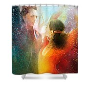 Flamencoscape 09 Shower Curtain