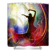 Flamencoscape 16 Shower Curtain