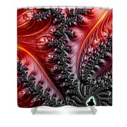 Flames - A Fractal Abstract Shower Curtain