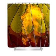 Flames Heating Up Hot Air Balloon Shower Curtain