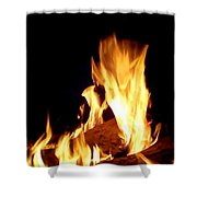 Flames In The Dark Shower Curtain