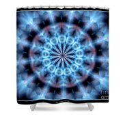 Flames Kaleidoscope 4 Shower Curtain