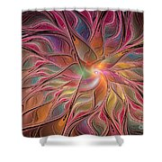 Flames Of Happiness Shower Curtain