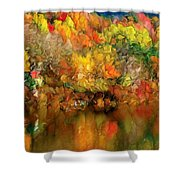 Flaming Autumn Abstract Shower Curtain