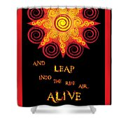 Flaming Celtic Sun Shower Curtain