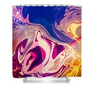 Flaming Colors Shower Curtain