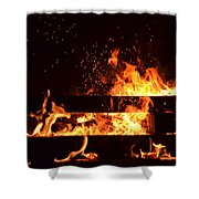 Flaming Darkness Shower Curtain