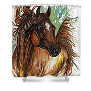 Flaming Horse Shower Curtain