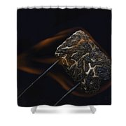 Flaming Marshmallow Shower Curtain