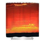 Flaming Ocean Shower Curtain