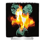 Flaming Personality Shower Curtain