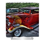 Flaming Rod Shower Curtain